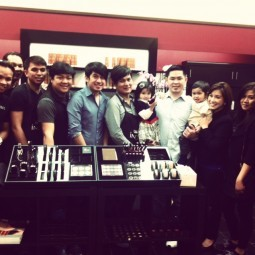Marlou Colina with staff and guests at the opening of Colina Salon,Rancho Cucamonga branch