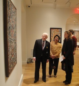 OSSORIO EXHIBIT. Ambassador Jose L. Cuisia Jr. and his wife, Ma. Victoria, admire one of the artworks of Filipino American artist and patron Alfonso Ossorio (1916–1990) at The Phillips Collection in Washington D.C.  The private museum currently has on exhibit the abstract expressionist works of Ossorio, American painter Jackson Pollock (1912–1956), and French painter Jean Dubuffet (1901–1985). Dubbed Angels, Demons, and Savages, the exhibit features 55 of their paintings and works on paper from 1945 to 1958.  Photos also show the Ambassador with members of the University of Maryland Filipino Cultural Association and the Northern Virginia Rondalla who performed at the opening of the exhibit on Thusday.