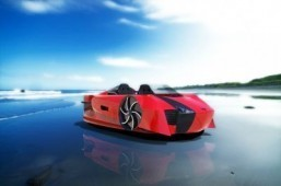 The Mercier-Jones Supercraft A cross beteewn a supercar and a hovercraft, it goes on sale in May. © Mercier-Jones Hovercraft