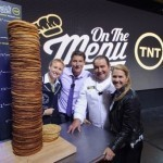 Chef Emeril Lagasse helps build world's tallest pancake stack