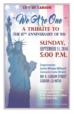 Carson to mark 15th anniversary of 9/11 with patriotic tribute