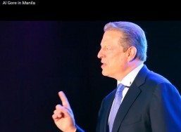 """I am not here simply to do a lecture...I'm here also to ask you to be part of the solution. This is a moment in human history unlike any other...to have an obligation for those who come after us that is fundamentally different..."" Al Gore, Manila Philippines (Al Gore in Manila Youtube video capture)"