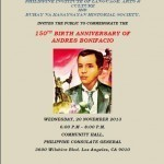 150th Birth Anniversary of Andres Bonifacio