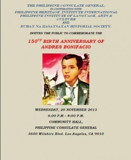 150th Birth Anniversary of Andres Bonifacio