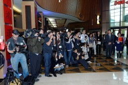 Asian Media taking photos to Pechanga Asian Hosts
