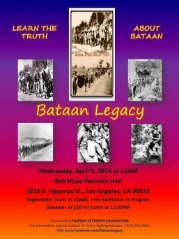 Filipino Veterans Foundation presents Bataan Legacy April