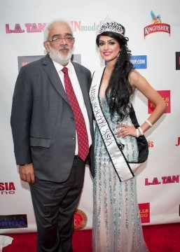 Bollywood director Rahul Rawail with newly crowned Miss South Asia 2014_Reena Rai (Photo by Teofie S. Decierdo at VTM Photography)