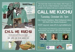"Join us for a free screening of the film ""Call Me Kuchu"""