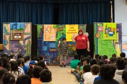 Students Learn electrical safety during 'A Bug's Light!' play