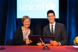UNICEF Deputy Executive Director Yoka Brandt  and Novak Djokovic, the number one ranked tennis player in the world, hold a signed agreement announcing Novak Djokovic as a UNICEF Goodwill Ambassador at UNICEF House. On 26 August 2015, UNICEF announced Novak Djokovic's appointment as a Goodwill Ambassador. Djokovic, the number one ranked tennis player in the world, has focused on the issues of vulnerable children and their communities through his previous position as a UNICEF Serbia Ambassador and his own Novak Djokovic Foundation. Djokovic first teamed up with UNICEF in 2011 when he was appointed a UNICEF Serbia Ambassador.  Since then, he has been lending his support to improving the lives of children, especially those who are amongst the most marginalized, with a particular focus on the importance of early childhood education and development in providing children with the best start to life.  Novak also signed a Memorandum of Understanding between the World Bank and the Novak Djokovic Foundation, setting out how the two institutions can partner more closely to promote  early childhood development.  UNICEF and the Foundation have established a close cooperation on bringing early childhood services  to every child and family in Serbia, and the welcome addition of the Bank's resouces will allow an even broader reach to the most deprived children around the world.© UNICEF/NYHQ2015-2048/Nesbitt