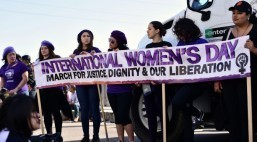 AF3IRM South Bay joins International Women's Day March