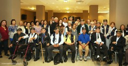 Consul General Adelio Angelito Cruz with the WW II Filipino American Veterans.
