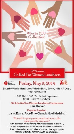 Four-time Olympic Gold-Medalist Janet Evans to speake at LA Go Red For Women luncheon