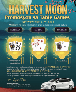 Celebrate Harvest Moon Festival at Pechanga Resort & Casino with huge prizes and two New 2013 Toyota Prius!