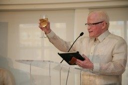 Ambassador Jose L. Cuisia Jr. offers a toast during the Independence Day Reception at the Hay Adams Hotel in Washington, D.C. (Philippine Embassy Photo by Elmer G. Cato)