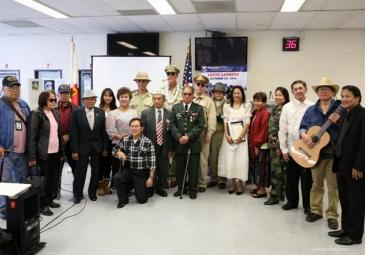 Philippine Heritage Scouts Society in a photo  with Philippine World War II veterans.
