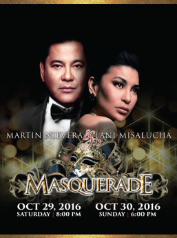 'Ballad King' Martin Nievera & 'Siren of the Las Vegas Strip' Lani Misalucha in a special 'Masquerade' Halloween concert only at Pechanga Resort & Casino