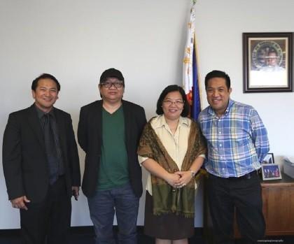 Photo above shows (L-R) Deputy Consul General Daniel Espiritu, Director Erik Matti, Consul General Ma. Hellen Barber De La Vega and Mr. Vicente Perez.