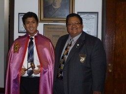 Felix Reginald Lopez declared Order of Demolay, National Ritual Champion