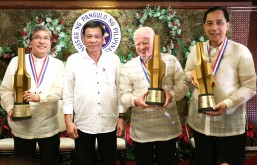 Duterte honors 3 outstanding Filipinos in 2016 TOFIL awards