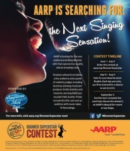 AARP launches search for America's top boomer talent with Boomer Superstarcontest powered by American Idol Live!