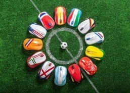 The Logitech M235 wireless mouse is now available in 13 new designs honoring the nations competing in the 2014 World Cup. ©Logitech