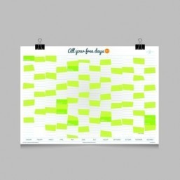 The calendar that ignores office days to help you make the most of 2014