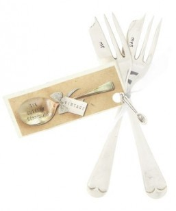 Silver-plated Mr. and Mrs. Cake Fork Set by Liberty ©Liberty