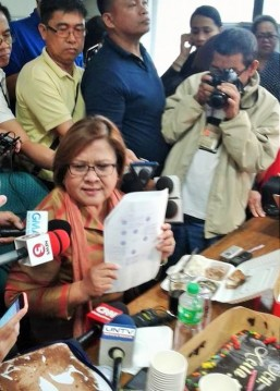 Affidavit says NBI exec delivered money to De Lima more than twice