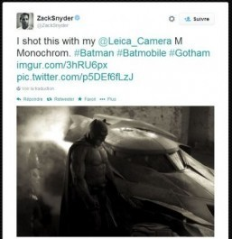 Ben Affleck makes his debut as Batman in new photo