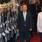 Aquino meets with UN chief Ban Ki-Moon in Malacañang