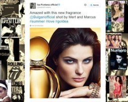 First photo released of Isabeli Fontana as face of new Bulgari fragrance