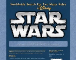 'Star Wars 7′: Disney opens two major roles to online auditions