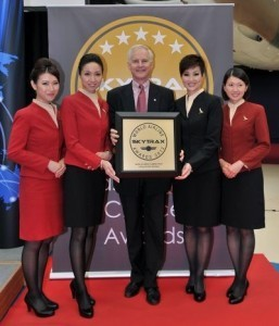 The best flight attendants are from Asia