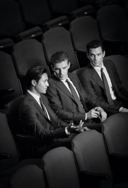 "Actors Matt Bomer, Chen Kun and Dan Stevens star in Giorgio Armani's new ""Made to Measure"" campaign ©John Balsom pour Giorgio Armani"