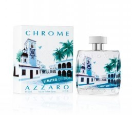 Takeshi chose a cool palette of blues and greens for the Summer 2014 Limited Edition of Azzaro Chrome. ©Azzaro