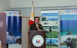 Consul General Leo Herrera-Lim addressing the audience.