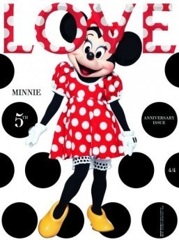 Minnie Mouse covers Love Magazine
