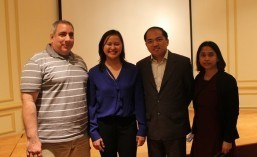 "(From left) APA Film Festival Director Paul Marengo, Director Marissa Aroy, Philippine Embassy Minister for Economic Affairs Jose Victor Chan-Gonzaga, and Cultural Attaché Maricor Jesalva after the community screening of ""The Delano Manongs"" at the Romulo Hall of the Philippine Embassy on April 22, 2016"