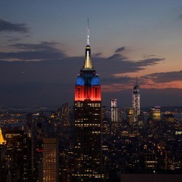 Empire State Building dons PHL colors for Yolanda victims
