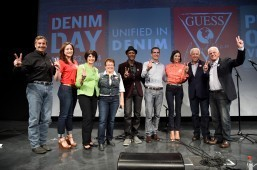 Garcetti wears denim in protest vs sexual violence