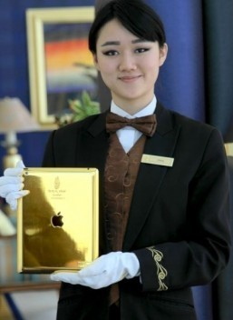 Dubai hotel hands out gold-plated iPads to guests