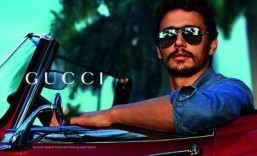 Behind the scenes with James Franco in Gucci's eyewear campaign