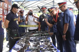 High-powered firearms seized in North Cotabato mayor's house