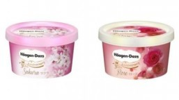 Haagen-Dazs Japan has released cherry blossom and rose-flavored ice creams to celebrate its 30th anniversary in Japan. ©Haagen-Dazs Japan