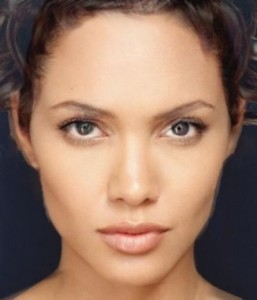 Morphed image of Angelina Jolie and Halle Berry ©University of Leicester