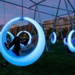Boston installs glow-in-the-dark swings for adults