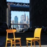 Times Square transformed into a giant stage with New York vintage chair exhibition