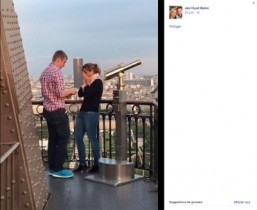 Tourist captures Eiffel Tower engagement and launches search for mystery couple