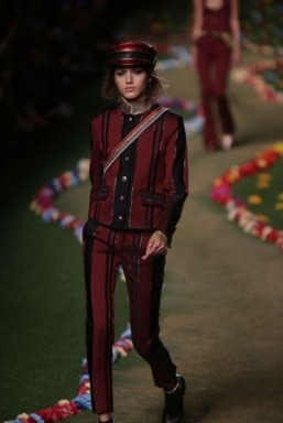 Rock n Roll, drums and Jagger at Hilfiger show
